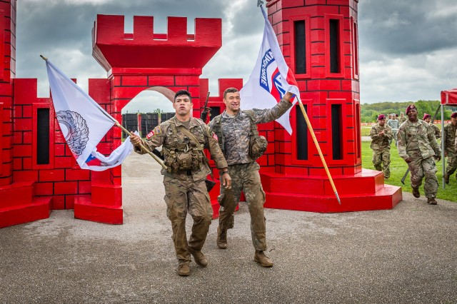 1st Lt. Luke Groom and Staff Sgt. Carlos Jimenez, representing the 307th Brigade Engineer Battalion, 3rd Brigade Combat Team, Fort Bragg, North Carolina, emerged victorious in the grueling competition.