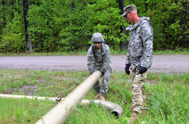 53rd Quartermaster Company, 61st Quartermaster Battalion, 13th Expeditionary Sustainment Command Pipeline training