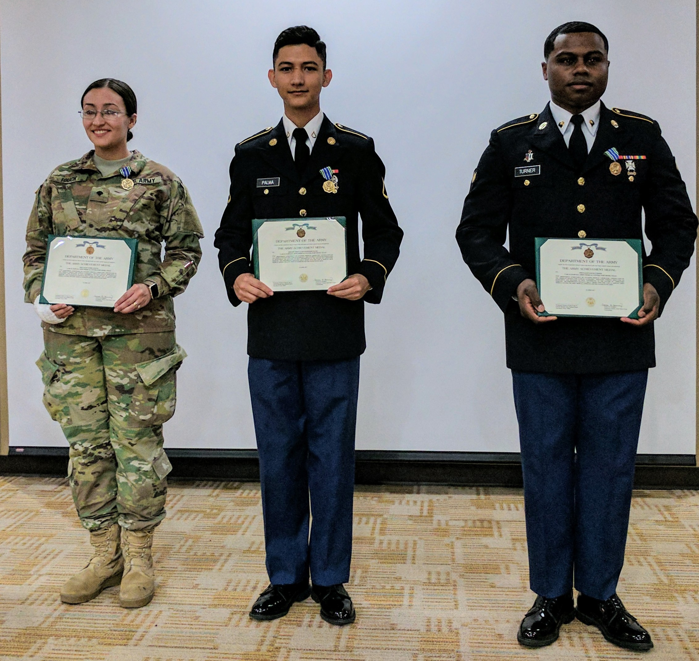 Army Medics Receive Medical Laboratory Technician Certification