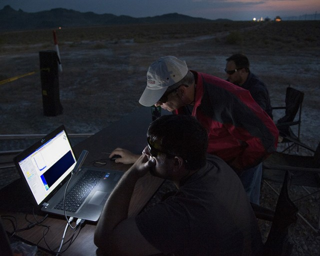 Detector searches for simulated biological agent