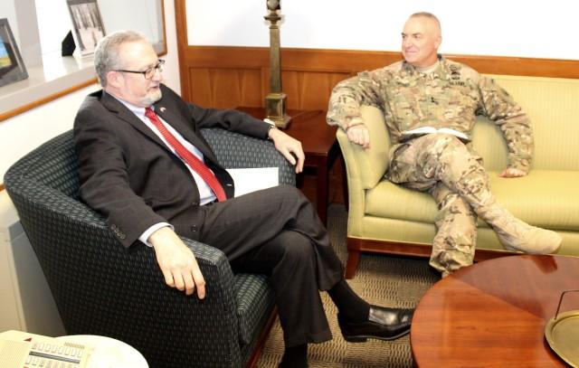 Commanding General and U.S. Ambassador Silverman