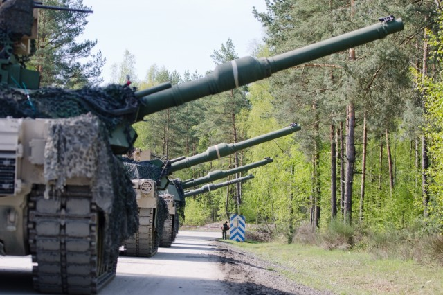 A tank platoon assigned to 1st Battalion, 66th Armor Regiment, 3rd Armored Brigade Combat Team, 4th Infantry Division, completed live-fire offensive operations lane for the Strong Europe Tank Challenge at Grafenwoehr Training Area, May 10, 2017, as part of Strong Europe Tank Challenge. The Strong Europe Tank Challenge is designed to test the capabilities, project a dynamic presence, foster military partnership, promote interoperability, and provides an environment for sharing tactics, techniques and procedures.
