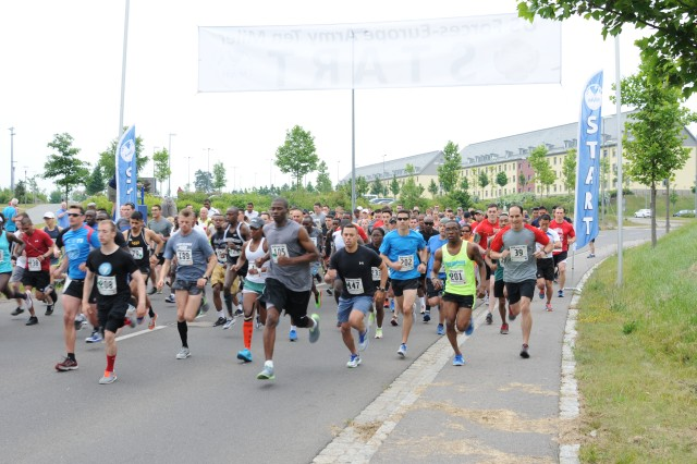 Participants at the U.S. Forces Europe Army Ten-Miler Qualification Race at  Tower Barracks in Grafenwoehr, Germany. U.S. Army Garrison Bavaria headquartered in Grafenwoehr hosts the 2017 U.S. Forces Europe Army Ten-Miler Qualification Race at the Tower Barracks Physical Fitness Center, Bldg. 170, Sat., June 24, 2017, beginning at 8 a.m. Pr-register today or register on-site.