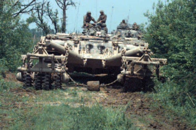 The experimental Panther used for mine-clearing operations