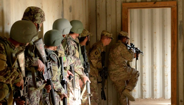 Afghan National Army trains in Helmand