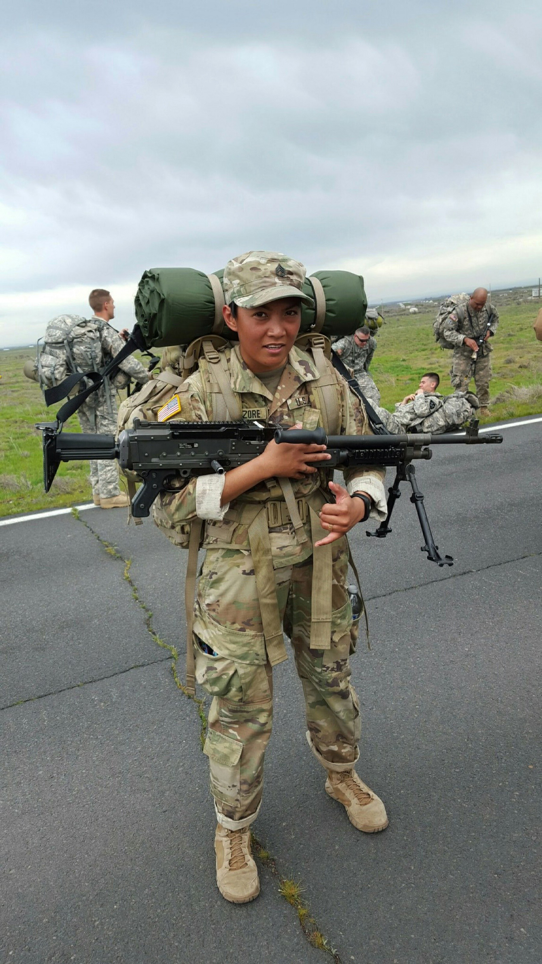 California Army National Guard Soldier Queen Of Battle Paves The