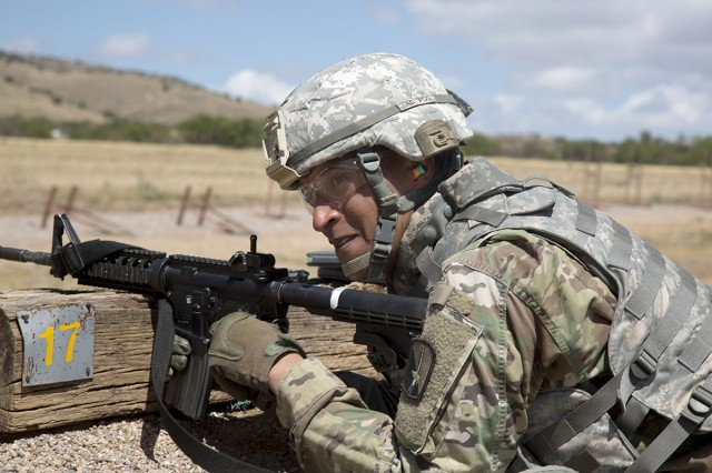 Staff Sgt. Brian D. Randall, assigned to 7th Signal Command, U.S. Army Signal Activity at Fort Detrick, Maryland, participates in a range during the 2017 NETCOM Best Warrior competition at Fort Huachuca, Az., May 16, 2017. Randall topped the other competitors in the Noncommissioned Officer category and was selected as the NCO of the Year.