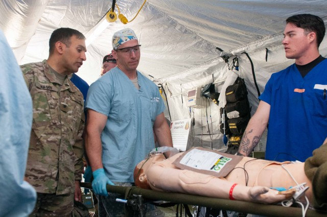 Madigan teams up with 758th FST for patient surgeries in field conditions
