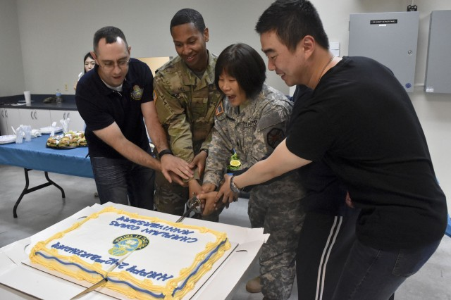 Area IV and USAG Daegu celebrate 242nd Chaplain Corps Anniversary at the Camp Walker Chapel Annex on May 12, 2017.