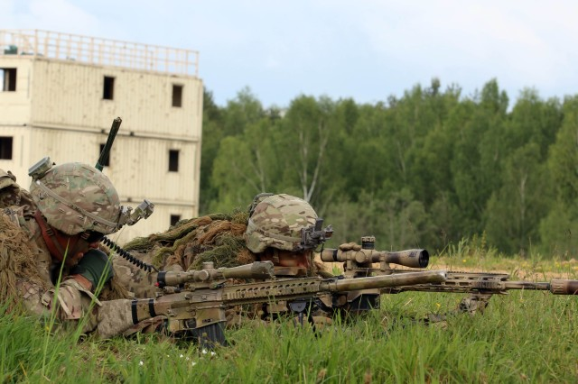 Grafenwoehr, Germany (May 25, 2017) -- Soldiers from 2nd Battalion, 12th Infantry Regiment (2-12 IN) participates in a live-fire exercise, here. Approximately 600 Soldiers from 2-12 IN, 2nd Infantry Brigade Comabat Team, 4th Infantry Division conducted platoon-level training at the Grafenwoehr Training Area in Bavaria, Germany, as part of an Emergency Deployment Readiness Exercise (EDRE). An EDRE is an opportunity to validate the unit's readiness to deploy world-wide on short notice, while testing the ability of U.S. Army Europe and subordinate units to receive, transport, feed, house and train units as they arrive in theater.