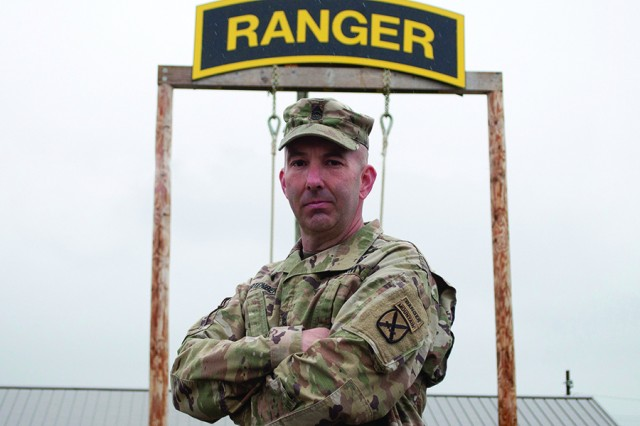 Command Sgt. Maj. Rob Fortenberry, 2nd Brigade Combat Team senior enlisted adviser, 10th Mountain Division (LI), doesn't ask of his Soldiers what he wouldn't do himself, and that includes attending Ranger School.