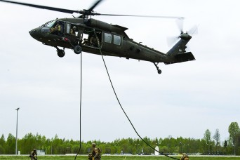 10th Combat Aviation Brigade, Latvian Special Operations Forces hone elite skills together