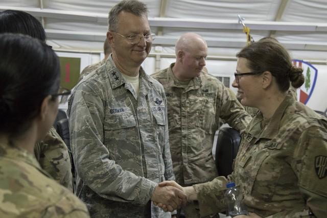 New York National Guard leaders visit troops serving in Kuwait