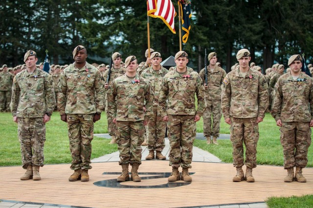 More than 150 service members in the 2nd Battalion, 75th Ranger Regiment were honored with awards, May 19, at the Ranger Battalion Memorial on Joint Base Lewis-McChord, Wash.