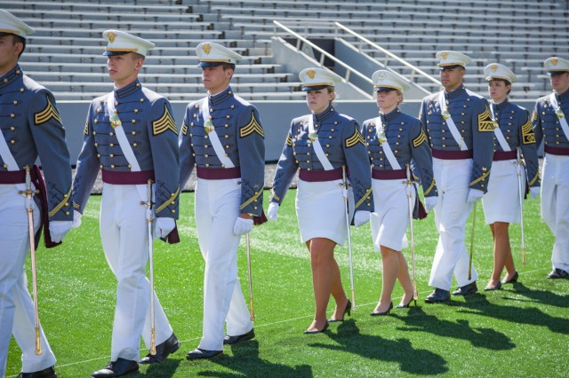 U.S. Military Academy cadets enter Michie Stadium for their graduation ceremony at West Point. Nine hundred and thirty-six cadets from the Class of 2017 received their diplomas May 27. The class included 151 women, 72 African-Americans, 60 Asian/Pacific Islanders, 102 Hispanics and six Native Americans.  There were 133 members of the class who attended the U.S. Military Academy Preparatory School (114 men and 19 women).  This class also included 21 combat veterans (20 men and one woman). (U.S. Army photo by Michelle Eberhart)