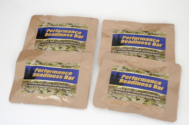 The Performance Readiness Bar was designed based upon evidence researchers from the U.S. Army Research Institute of Environmental Medicine collected from warfighters during initial entry training, indicating that a calcium and vitamin D-fortified snack item may optimize nutritional status while reducing injury. After collaborating with the Combat Feeding Directorate, the Performance Readiness Bar will be fully implemented at all four Army basic training locations in 2018.