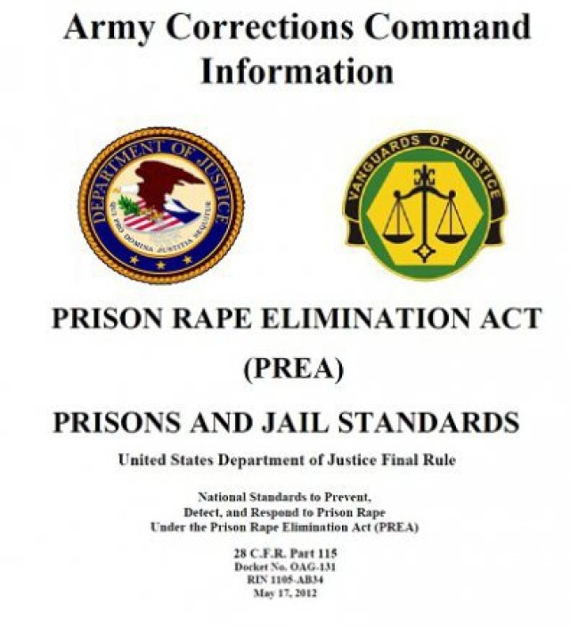 Army Corrections Command Prison Rape Elimination Act Policy