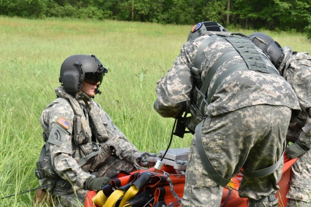 New York Army Guard helicopter crews hone water bucket firefighting skills