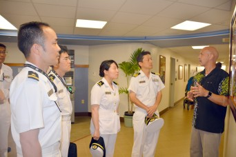 Japanese Navy medical professionals tour Tripler during annual training