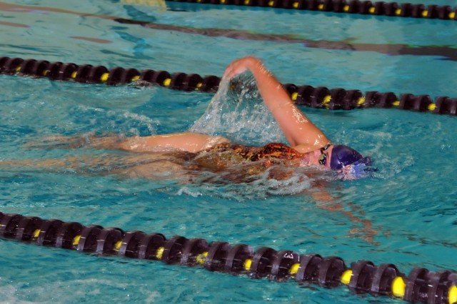 U.S. Army Reserve Sgt. Kawaiola Nahale swims laps during training for the 2016 Department of Defense Warrior Games held at the United States Military Academy at West Point, N.Y. Nahale is a Financial Analyst with the U.S. Army Reserve's 311th Signal Command based at Fort Shafter, Hawaii.