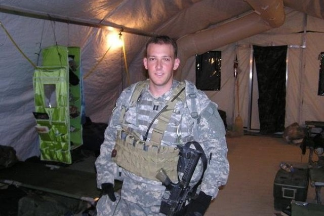 Cpt. Lee Zeldin poses for a photo during a 2006 deployment to Iraq. Zeldin, now a major in the Army Reserve, is also a U.S. Congressman for New York. (courtesy photo)