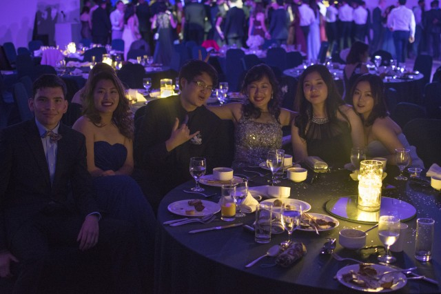 (Right to left) Sojung Park, Rachel Lee, Carol Lee, Jin Jung, Grace Kye and Jacob Silva