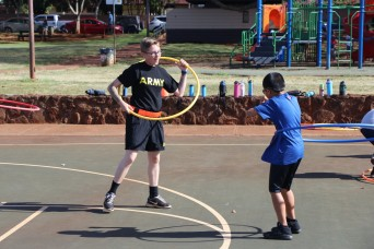 84th Engineers continue to 'GET FIT' with Mililani Uka Students
