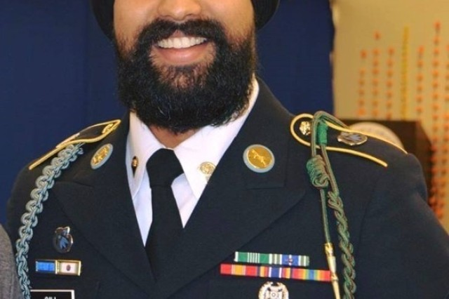 Spc. Gurpreet Gill, a Soldier with 1-2 Stryker Brigade Combat Team, had his religious accommodation approved, allowing him to grow his facial hair and wear a turban in accordance with his Sikh faith.