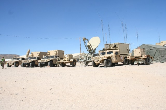 The 1st Armored Brigade Combat Team, 3rd Infantry Division (1/3 ID) utilized Secure Wireless as part of a pilot of the capability during the unit's training rotation at the National Training Center, at Fort Irwin, California, in April 2017. The unit's tactical network is enabled by Warfighter Information Network-Tactical network transport equipment seen here during the NTC rotation.