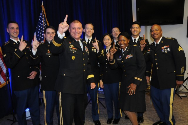 Maj. Gen. Troy Kok, commanding general for 99th Regional Support Command, joins the 319th Army Band based out of Fort Totten, New York, and Col. Cindy Saladin, commander for Northeast Medical Area Readiness Support Group to cheer their 1st place position on the east coast.  On June 5, 2017, Hackensack University Medical Center and the U.S. Army Reserve announced the formation of Operation Hackensack S.M.A.R.T. (Strategic Medical Asset Readiness Training), an innovative, first-of-its-kind partnership which focuses on high-quality, individualized specialty medical training for service members to improve their knowledge, skillsets and increase soldier readiness.  Soldiers will partner with their civilian counterparts at Hackensack University Medical Center for 14 days of immersion training utilizing cutting-edge technology, at no additional cost to the government. This innovative relationship will contribute to superior readiness and in-depth training within the medical ranks. It will also provide critical knowledge sharing between military and civilian medical professionals about best practices, techniques and procedures to ensure military service members are trained to use the most current technology in today's rapidly changing health care landscape.