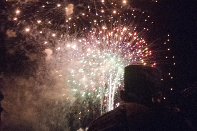 Saturday's celebration was capped with a fireworks display.