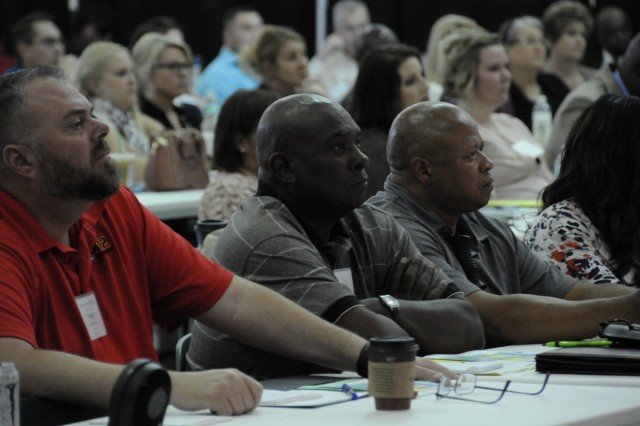 AW2 Advocates listen to presenters during the 2017 Annual AW2 Advocate Training in Tampa, Florida, June 05, 2017.