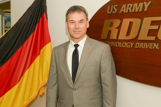 Mr. Stephan Boehmsdorff, German liaison officer to the Research Engineering and Development Command.
