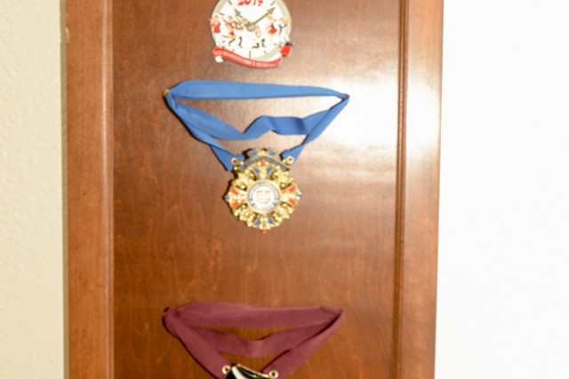 Carnival medals sent to Boehmsdorff from his hometown.