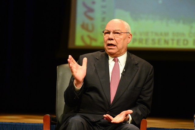 Gen. Colin Powell speaks at a special Vietnam War commemorative event at the Pentagon in Washington, D.C., on June 8, 2017.