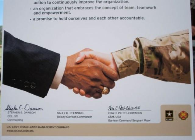 Garrison signs pledge for Service Culture Initiative
