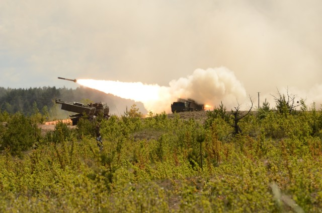 US military demonstrates combined arms capabilities with NATO Allies during Exercise Saber Strike