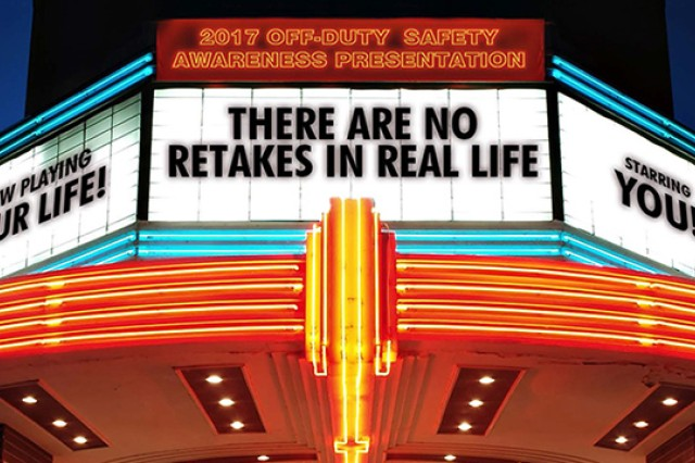"Themed ""There are No Retakes in Real Life,"" ODSAP contains materials and statistics that highlight the role of safety in off-duty activities. It addresses risky behaviors and emphasizes the often-deadly consequences fatigue, alcohol use and indiscipline, to name a few."
