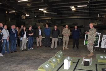 405th AFSB leadership team hosts NATO logistics delegation