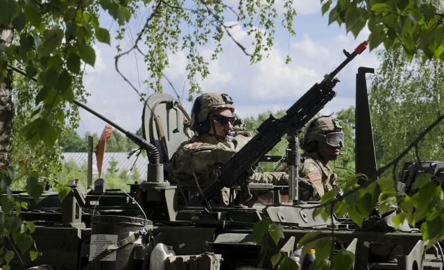 eFP Battle Group Poland crosses the Suwalki Gap into Lithuania