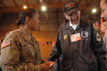 29th ID Soldiers Meet World War II Veteran during D-Day Observance
