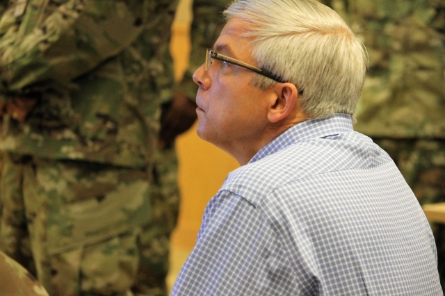 U.S. Air Force Lt. Col. Harold Ennulat (Retired), a lead program development manager at the Carnegie Mellon University, Software Engineering Institute, evaluates teams for a training exercise during the Cyber X-Games, hosted by the Army Reserve Cyber Operations Group, 335th Signal Command (Theater), June 15 at Carnegie Mellon University. Cyber X Games is a five-day exercise focusing on advanced areas of cyber security training. Cyber X Games is also part of Cyber Endeavour, the Department of Defense-sponsored conference for military and civilian practitioners from across government, industry and academia to address the nexus of cyberspace and national security.