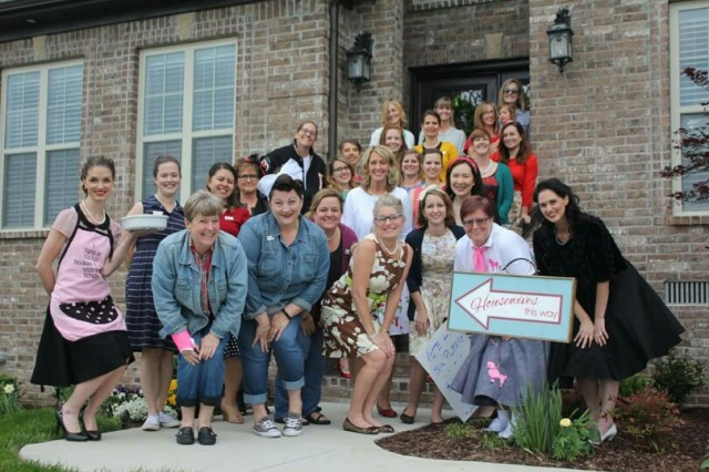 Fort Campbell Chaplain wives gather for a photo before the fun begins.