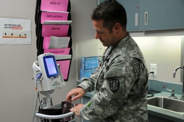 1st Lt. Jason Humes, an Army nurse assigned to Army Reserve Medical Command's 7240th Medical Support Unit out of Kirksville, Missouri, is one of approximately 25 U.S. Army Reserve Soldiers who are working in partnership with Pine Ridge Indian Health Service to provide medical care to the local tribal population. The Indian Health Service provides preventive, curative, and community health care for approximately 2.2 million American Indians and Alaska Natives in hospitals, clinics, and other settings throughout the United States. Services provided by Army Reserve personnel are done through the Department of Defense's Innovative Readiness Training, a civil-military program that builds mutually beneficial partnerships between U.S. communities and the DoD.  The missions selected meet training & readiness requirements for Army Reserve service members while integrating them as a joint and whole-of-society team to serve our American citizens.