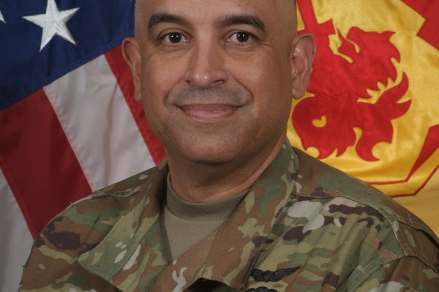 CPT Wilfredo Santiago, commander of Headquarters and Headquarters Battery, 94th Army Air and Missile Defense Command