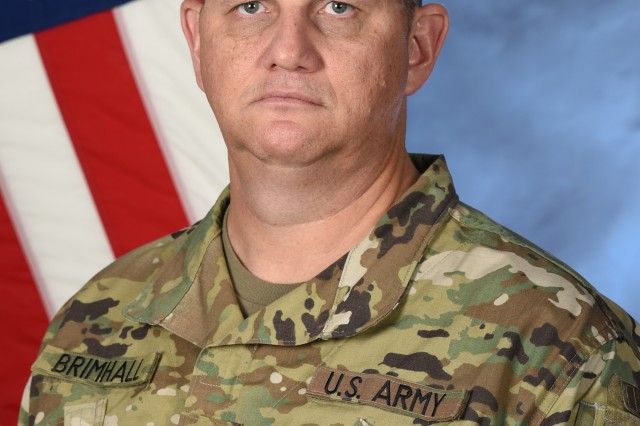 SGM Blake E. Brimhall, sergeant major of Task Force Talon.