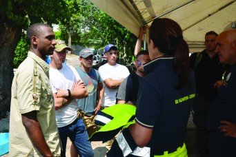 VMC volunteers support Alpini association in exercise