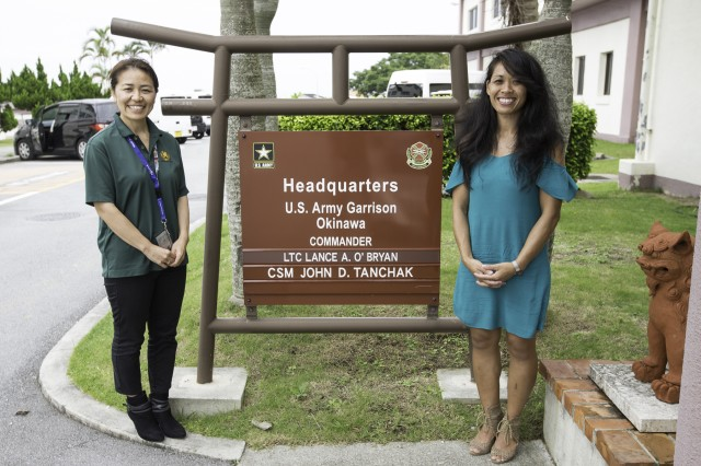Safety Program Administrator Etsumi Kawahira (at left) and Community Life Specialist Orathay Cusimano are being recognized with the Director of Army Safety Risk Management Award and the Army Community Service Individual Award of excellence, respectively.