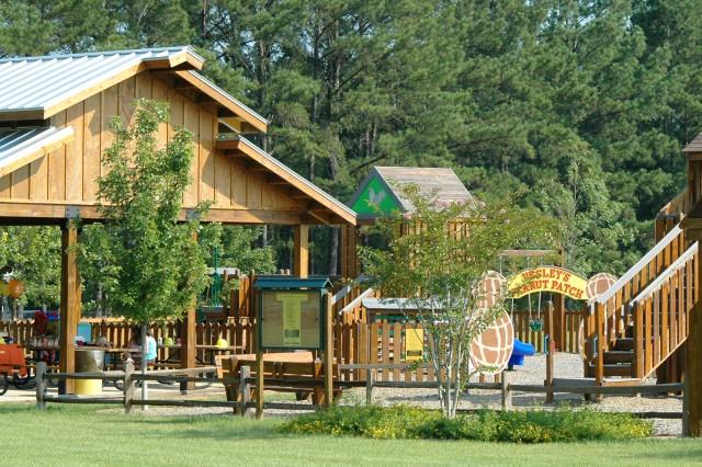 A playground at Landmark Park.