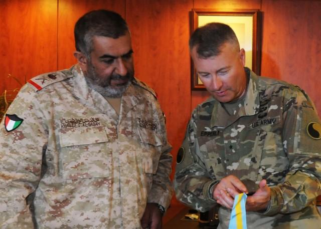 Kuwaiti Land Forces Commander awarded U.S. Infantry honor